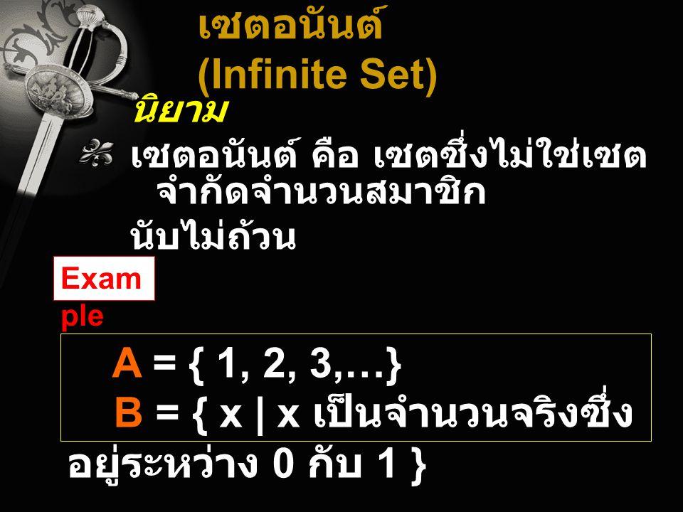 เซตอนันต์ (Infinite Set)
