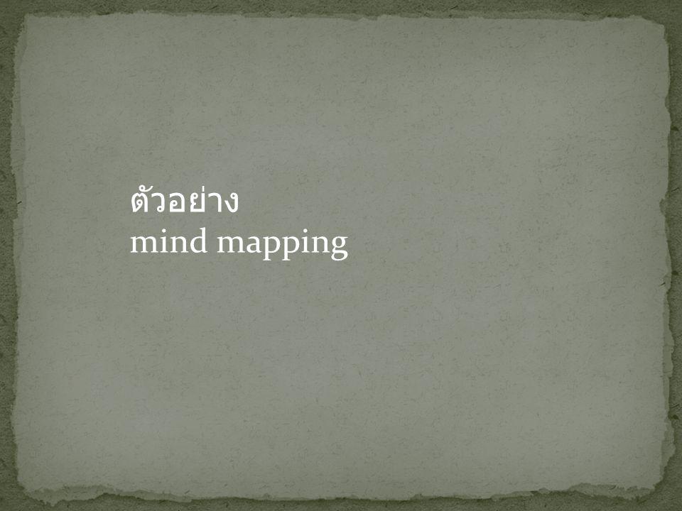 ตัวอย่าง mind mapping
