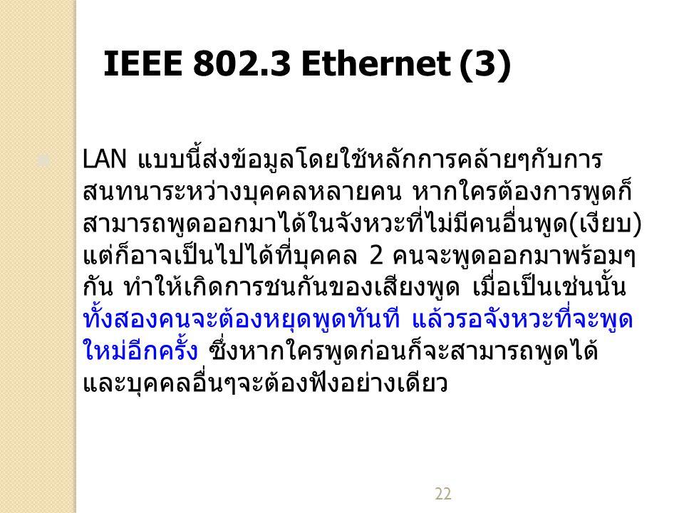 IEEE 802.3 Ethernet (3)