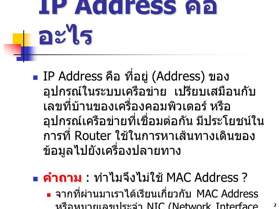 IP Address คืออะไร