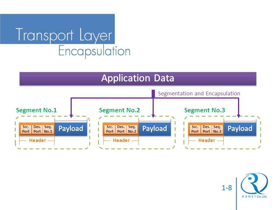 Application Data Payload 1-8 Segment No.1 Segment No.2 Segment No.3