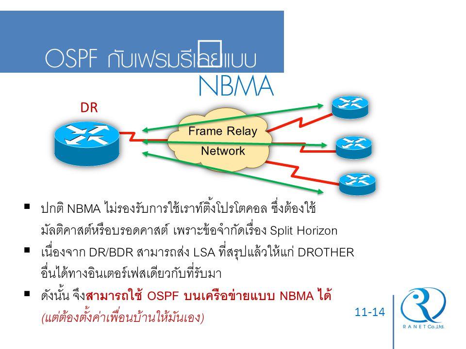 NBMA OSPF กับเฟรมรีเลย์แบบ Frame Relay Network