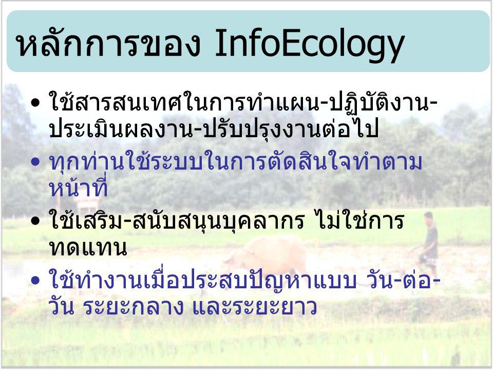 หลักการของ InfoEcology