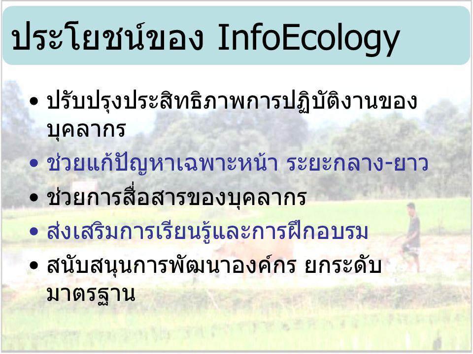 ประโยชน์ของ InfoEcology