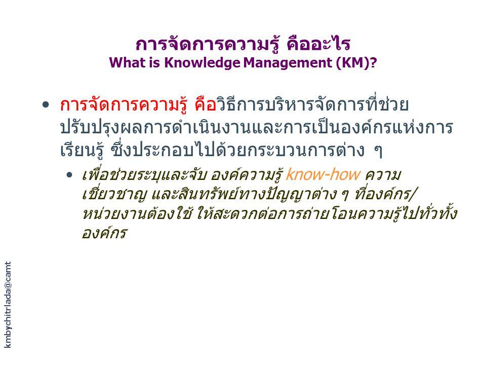 การจัดการความรู้ คืออะไร What is Knowledge Management (KM)