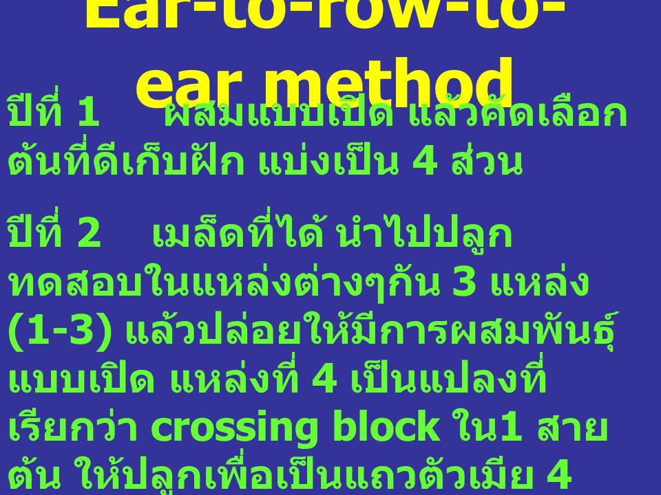 Ear-to-row-to-ear method