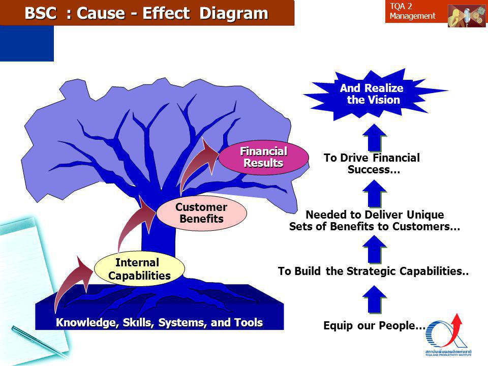 BSC : Cause - Effect Diagram