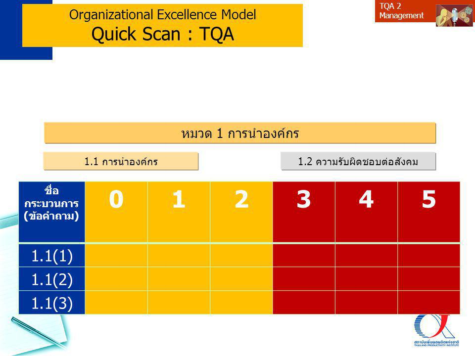 Organizational Excellence Model