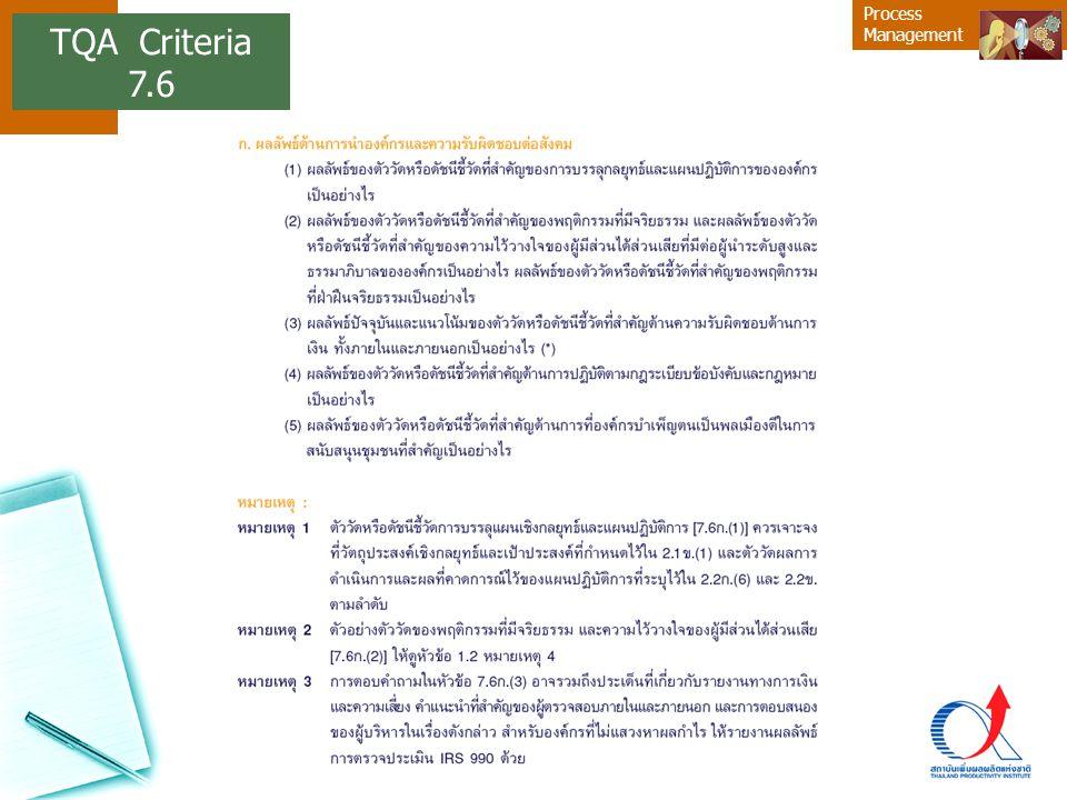 TQA Criteria 7.6 16
