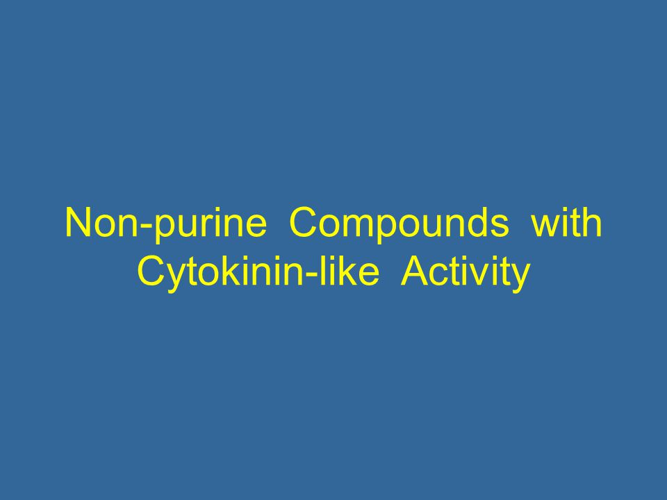 Non-purine Compounds with Cytokinin-like Activity
