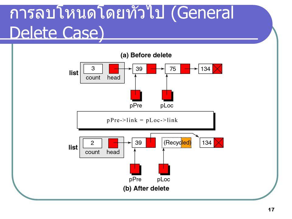 การลบโหนดโดยทั่วไป (General Delete Case)