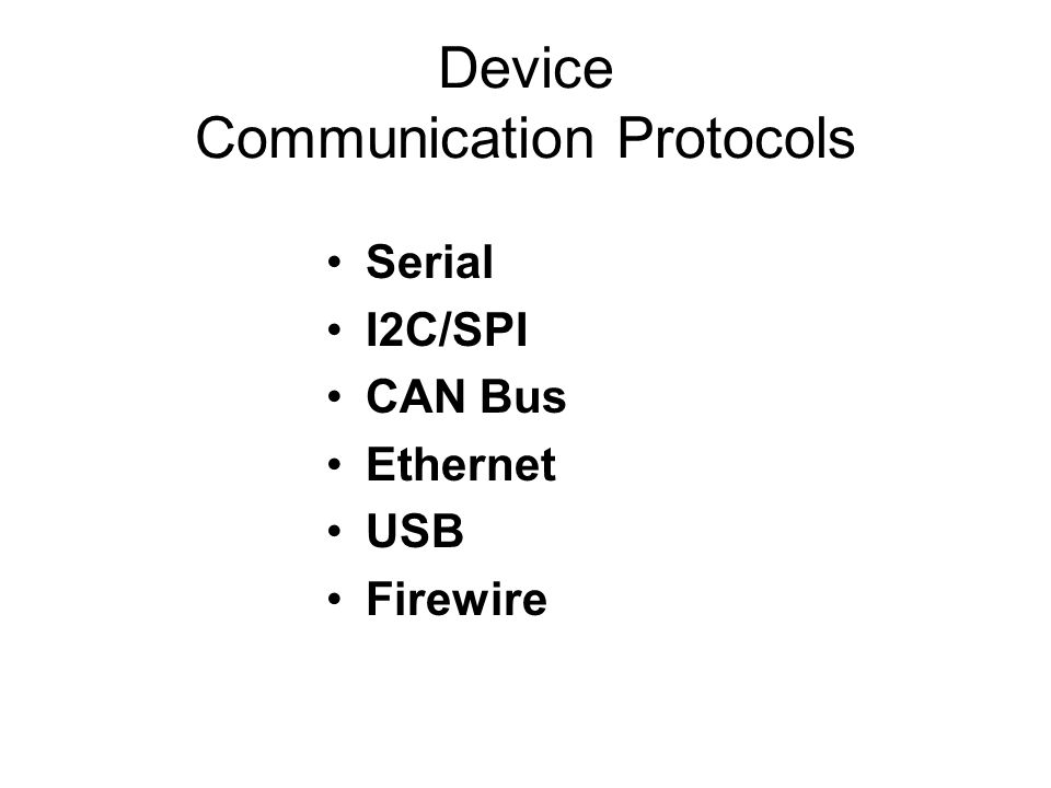 Device Communication Protocols