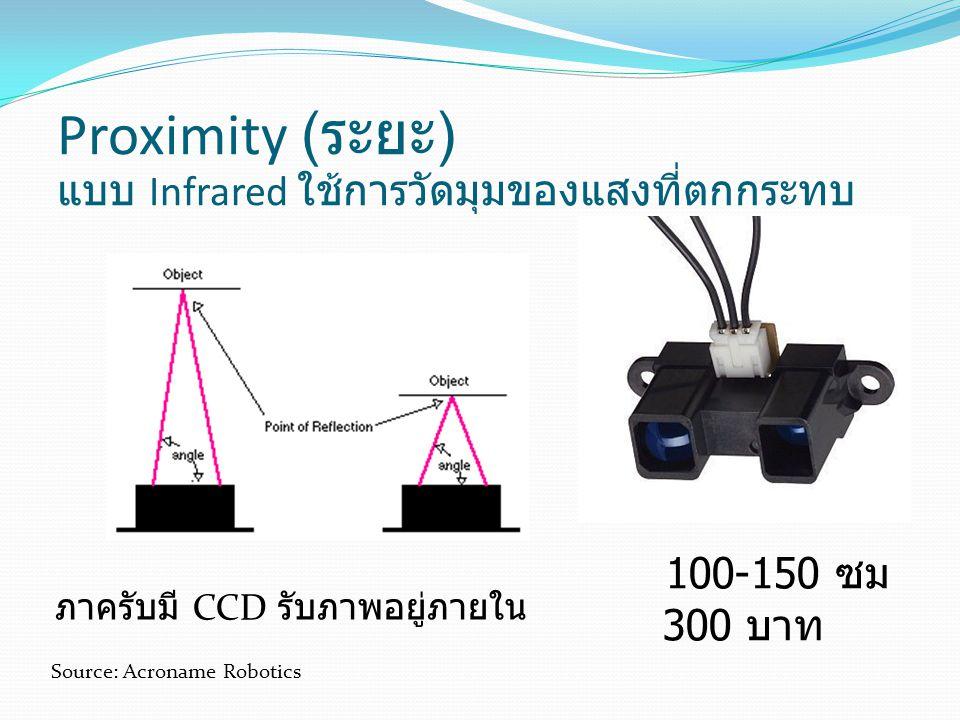 Proximity (ระยะ) แบบ Infrared ใช้การวัดมุมของแสงที่ตกกระทบ