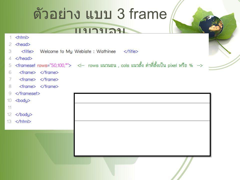 ตัวอย่าง แบบ 3 frame แนวนอน