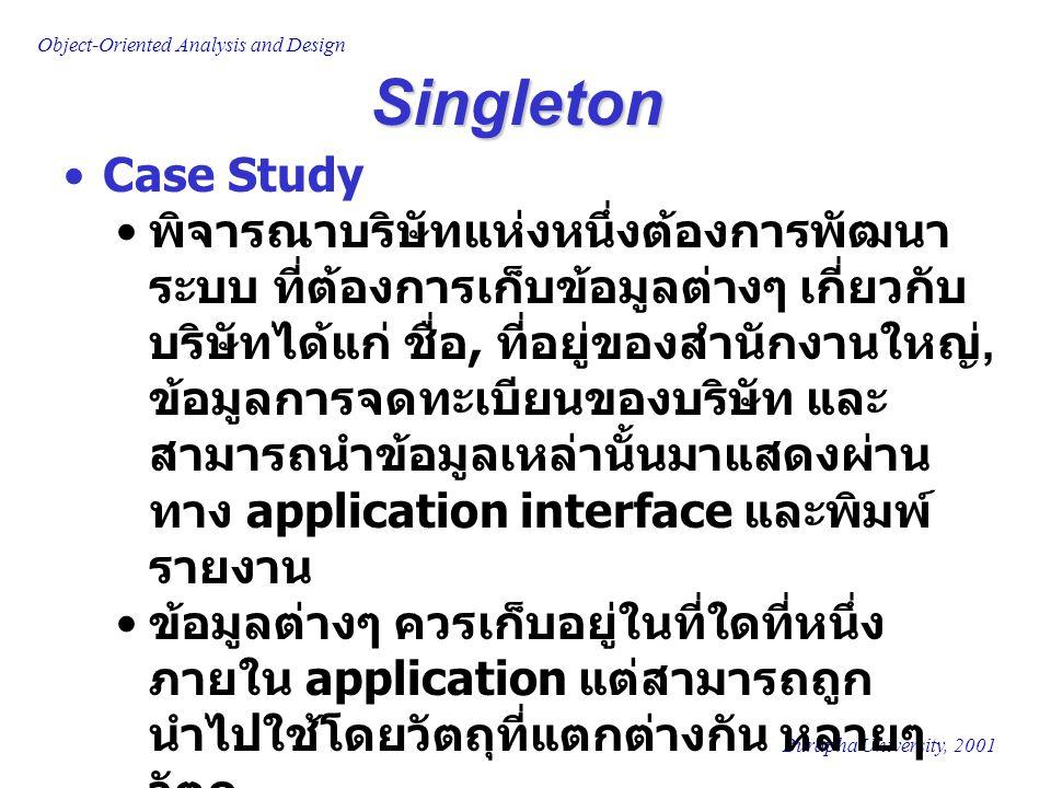 Singleton Case Study.