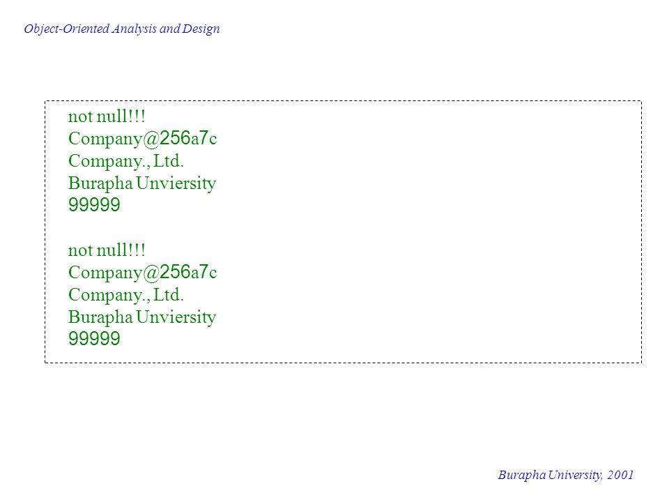 not null!!! Company@256a7c Company., Ltd. Burapha Unviersity 99999