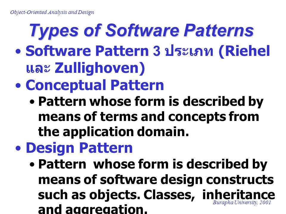 Types of Software Patterns