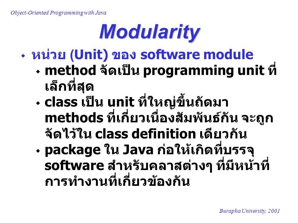 Modularity หน่วย (Unit) ของ software module