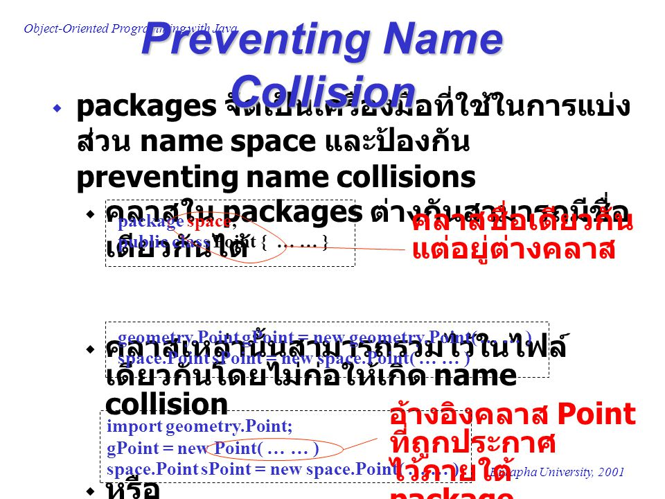 Preventing Name Collision