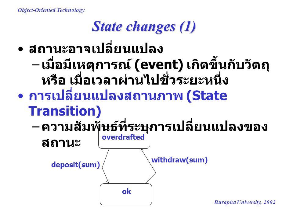 State changes (1) สถานะอาจเปลี่ยนแปลง