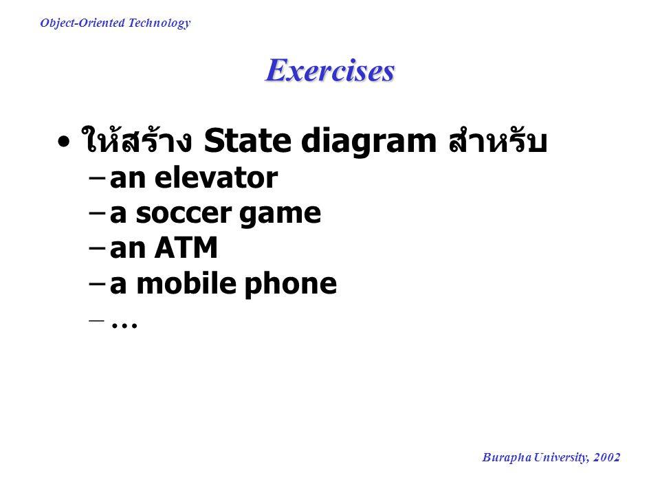 ให้สร้าง State diagram สำหรับ