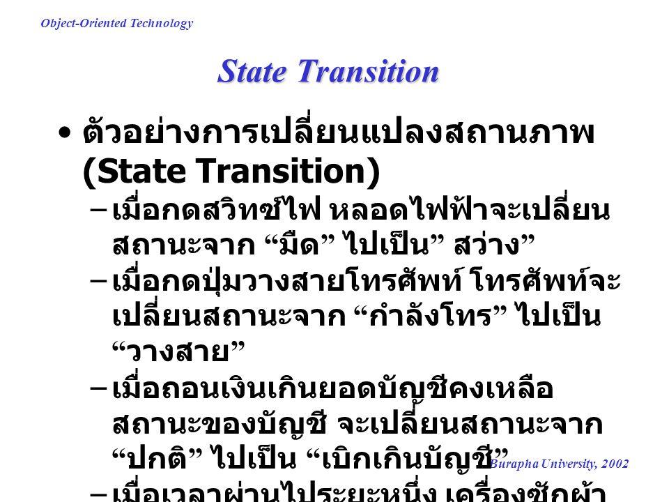 ตัวอย่างการเปลี่ยนแปลงสถานภาพ (State Transition)