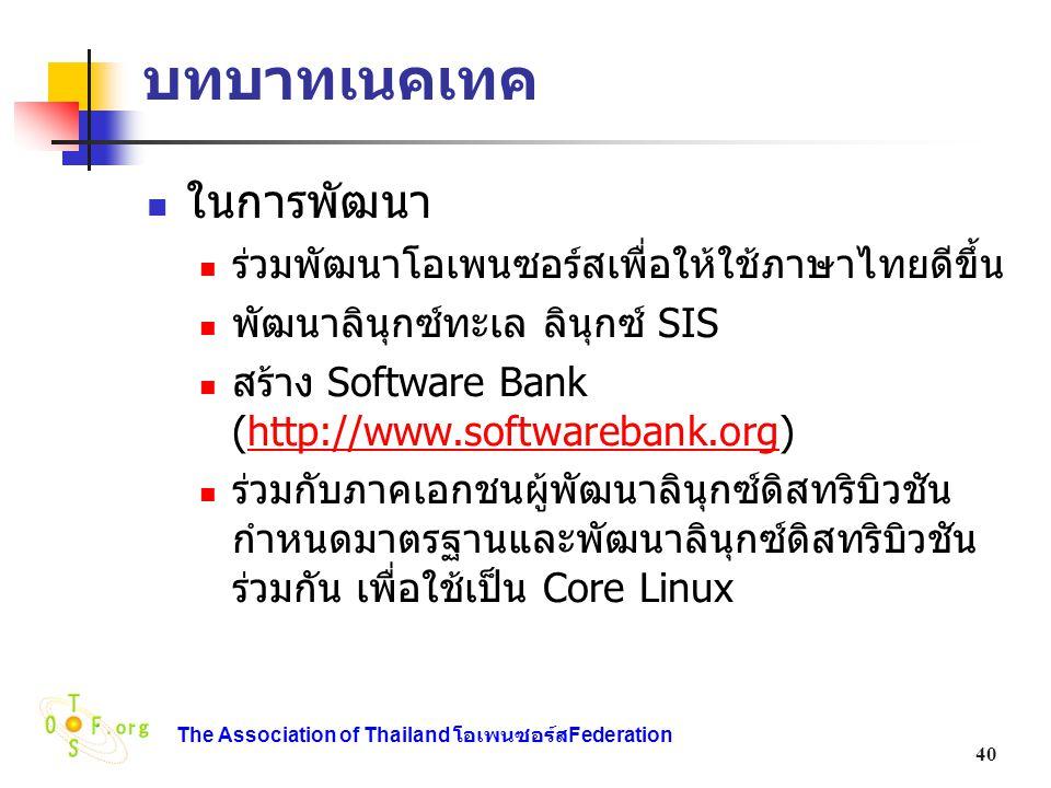 บทบาทเนคเทค ในการพัฒนา ร่วมพัฒนาโอเพนซอร์สเพื่อให้ใช้ภาษาไทยดีขึ้น