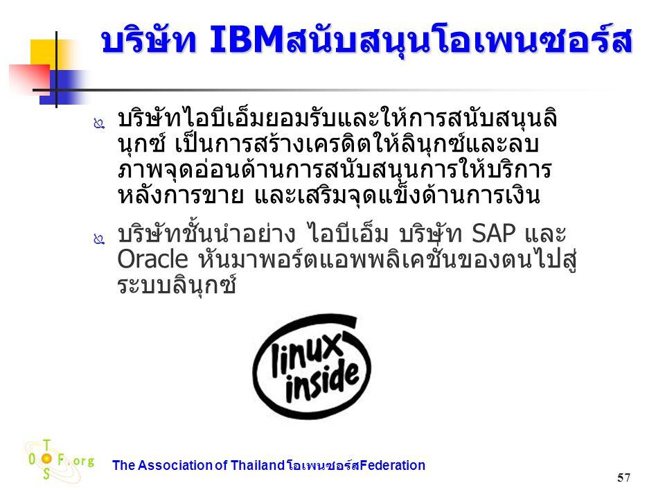 บริษัท IBMสนับสนุนโอเพนซอร์ส