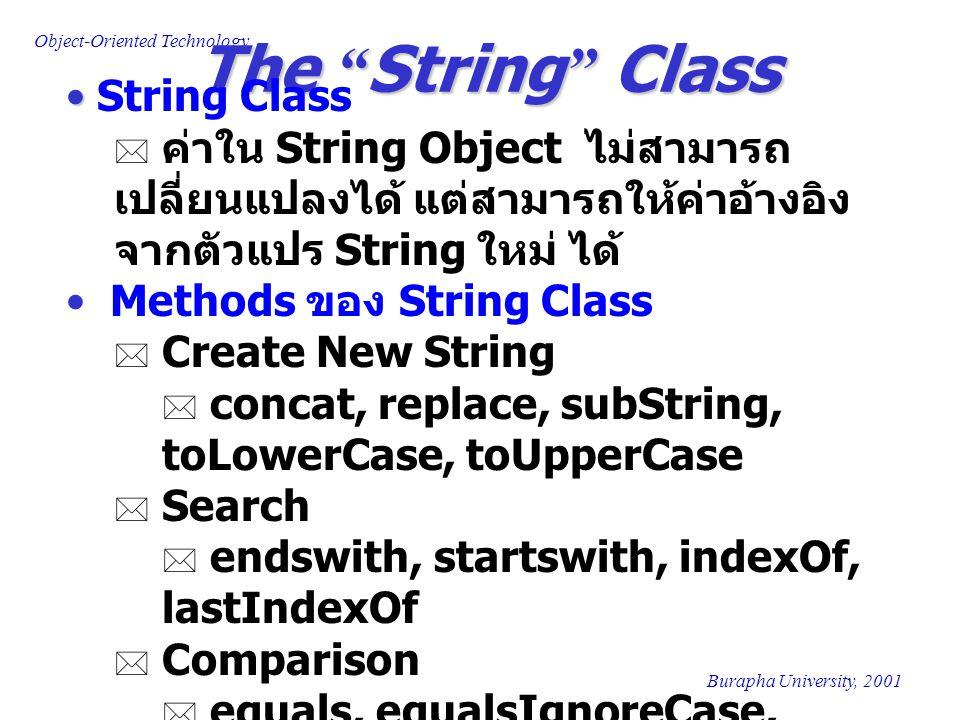 The String Class String Class