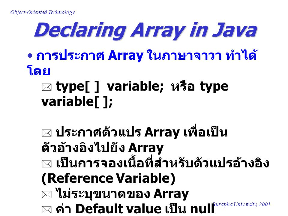 Declaring Array in Java
