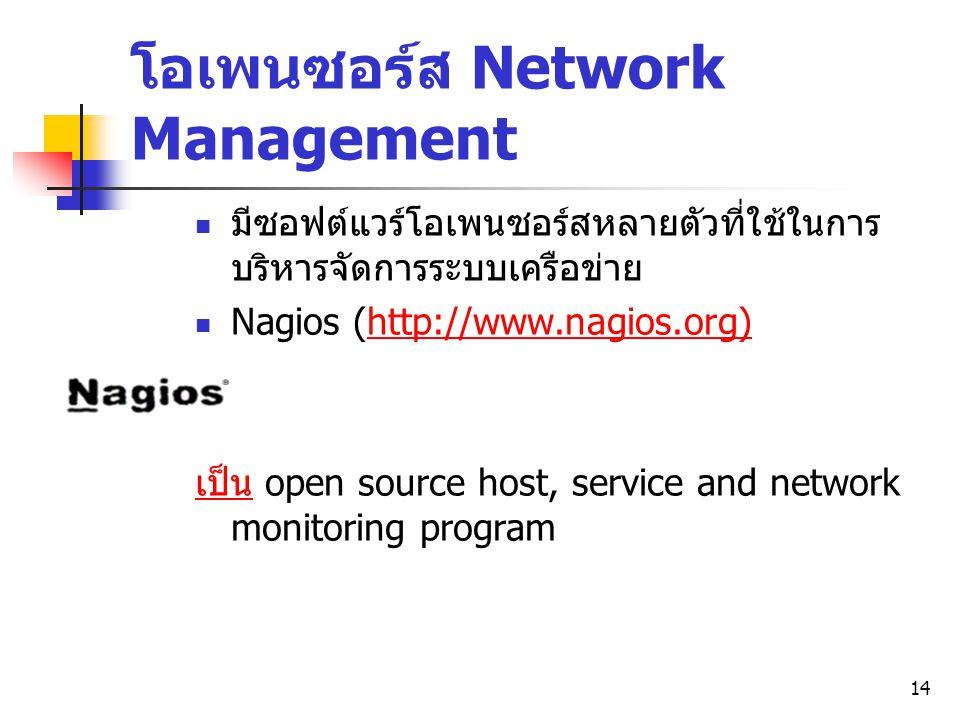 โอเพนซอร์ส Network Management