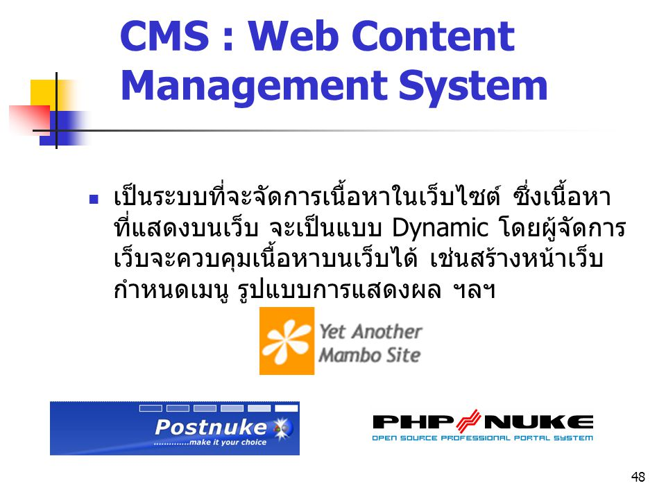 CMS : Web Content Management System