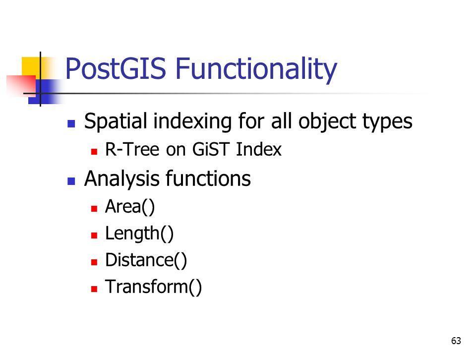 PostGIS Functionality