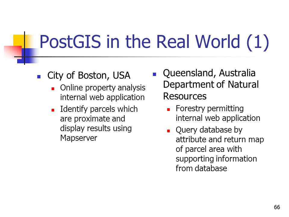 PostGIS in the Real World (1)