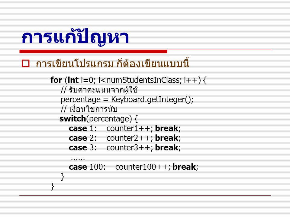 การแก้ปัญหา การเขียนโปรแกรม ก็ต้องเขียนแบบนี้