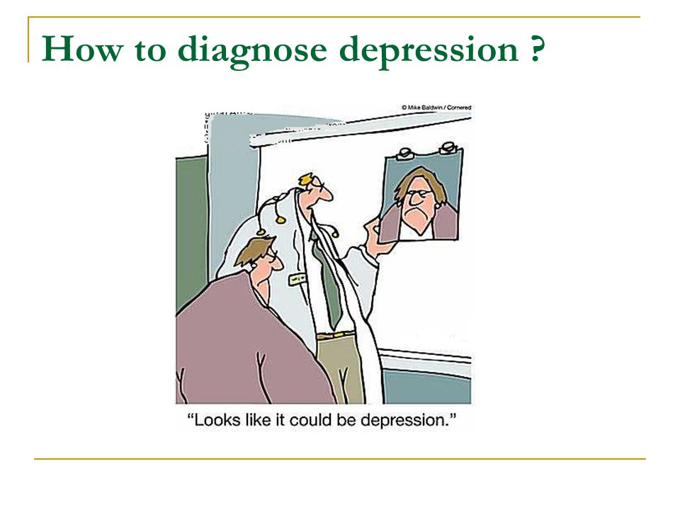 How to diagnose depression