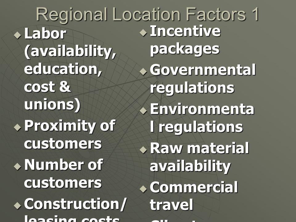 Regional Location Factors 1