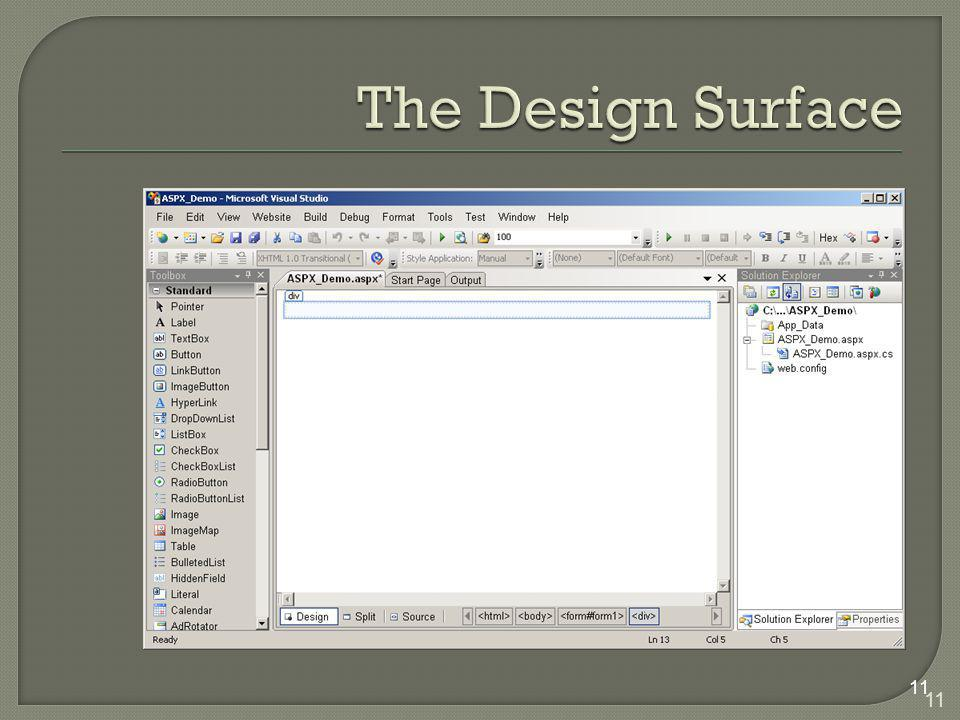 The Design Surface 11