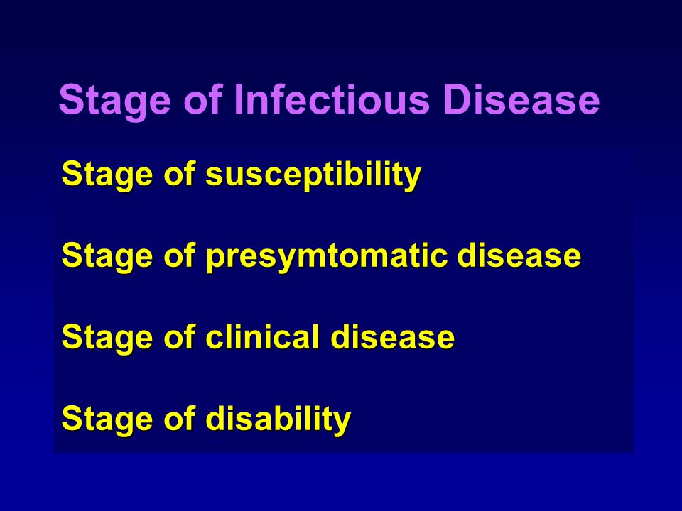 Stage of Infectious Disease