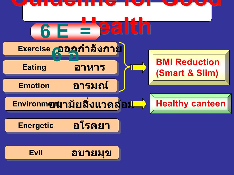 Guideline for Good Health