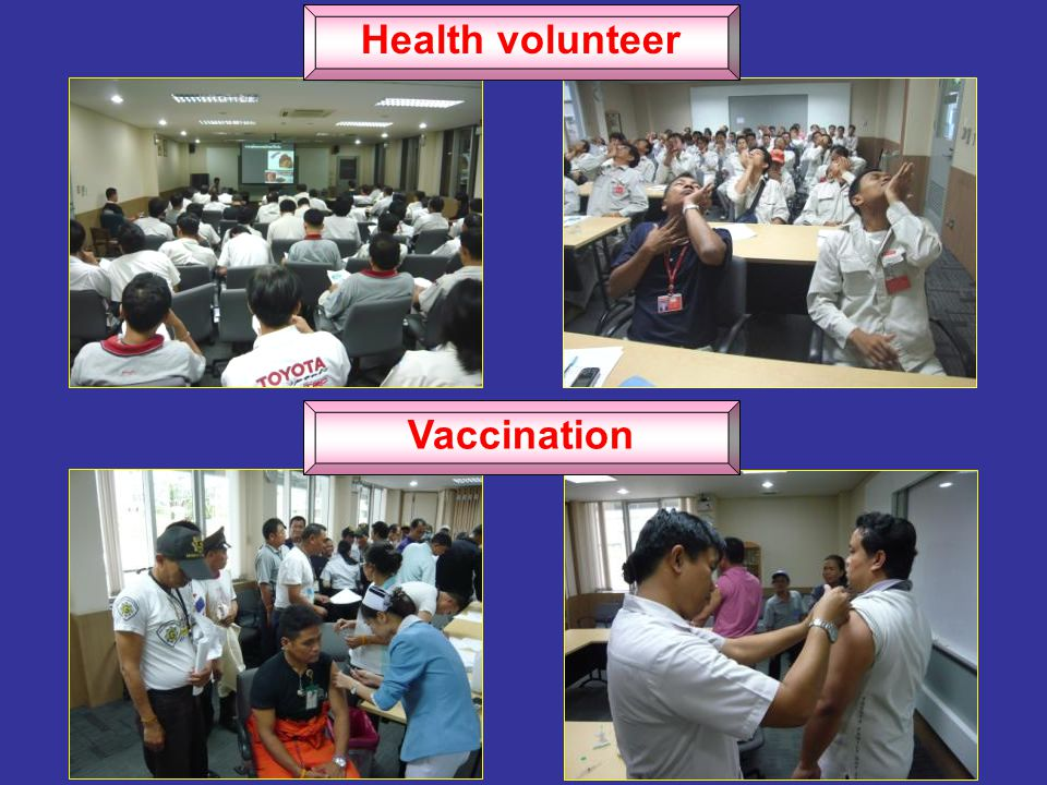 Health volunteer Vaccination