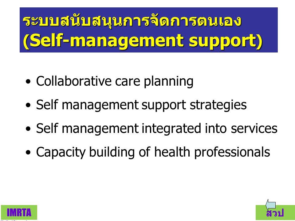ระบบสนับสนุนการจัดการตนเอง (Self-management support)