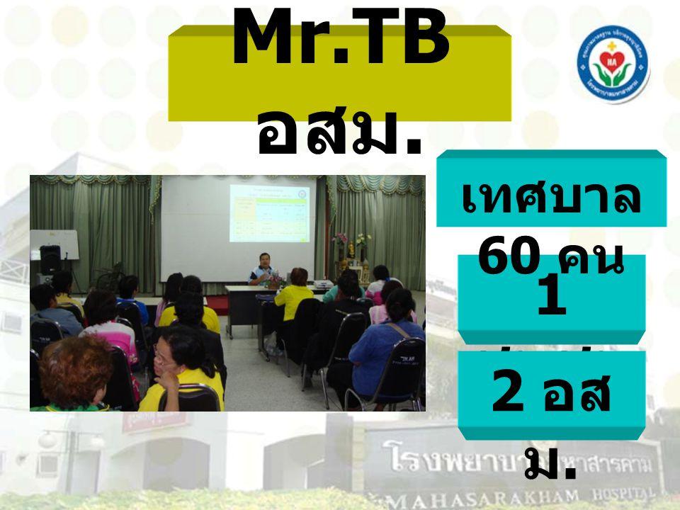 Mr.TB อสม. เทศบาล 60 คน 1 ชุมชน 2 อสม.