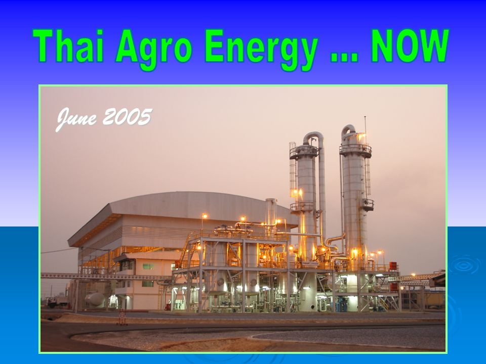 Thai Agro Energy ... NOW June 2005