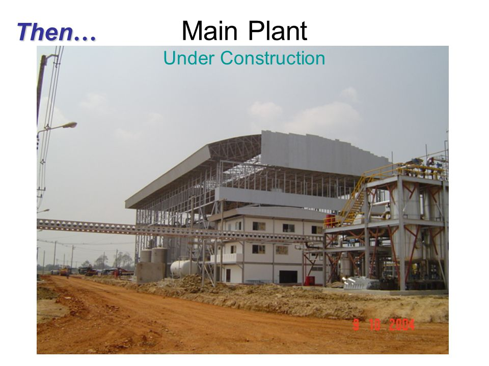 Main Plant Under Construction
