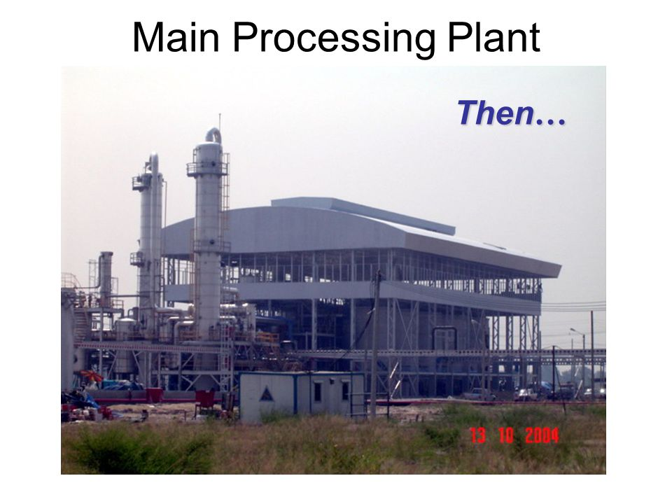 Main Processing Plant Then…