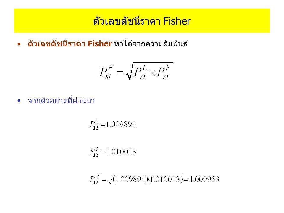 ตัวเลขดัชนีราคา Fisher