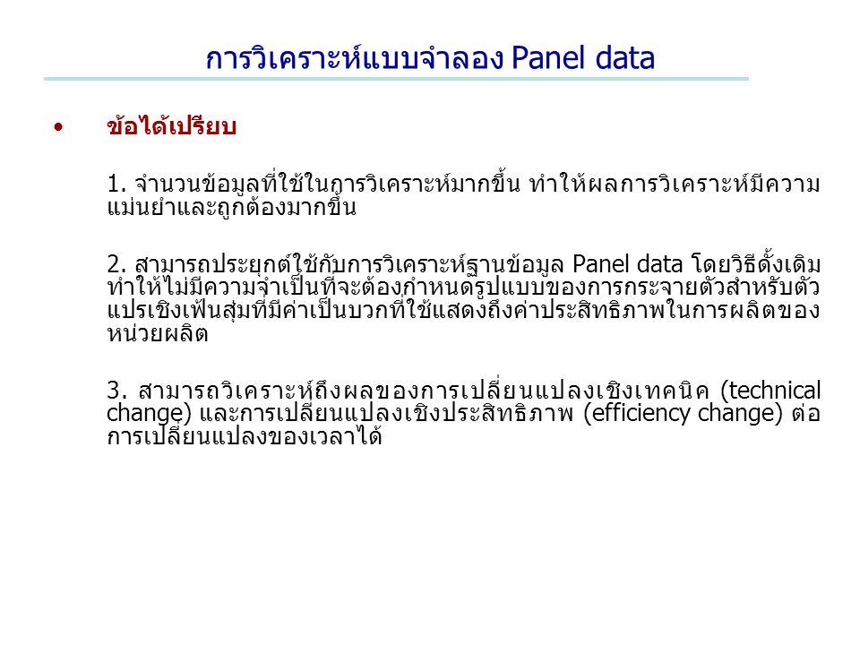 การวิเคราะห์แบบจำลอง Panel data