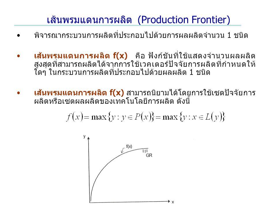 เส้นพรมแดนการผลิต (Production Frontier)