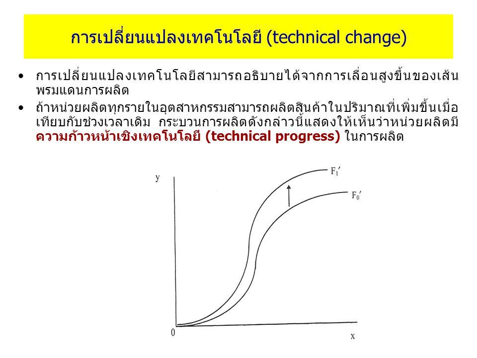 การเปลี่ยนแปลงเทคโนโลยี (technical change)